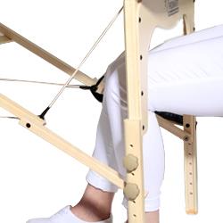 Stufenlos verstellbare Kopfstütze der Massageliege Fantastic